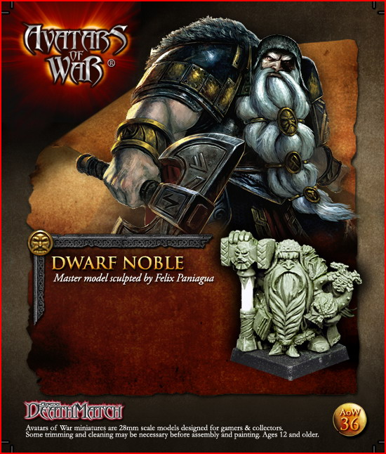 AoW36 Dwarf Noble, Master model sculpted by Felix Paniagua.